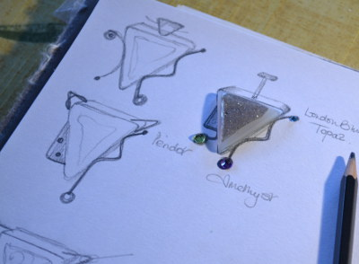 Designing a piece of silver jewellery