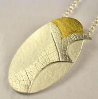 Unique handmade jewellery: sterling silver pendant: